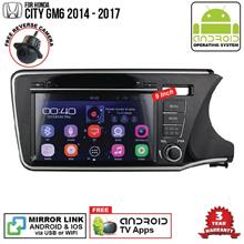 HONDA CITY GM6 14-18 9' ANDROID Double Din GPS DVD Mirror Link Player