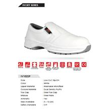 Safety Shoes Rhino Low Cut Slip On White IV102SP ST SP FOC Del No GST