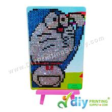 5D Rhinestone Drawing with Stand (15 x 10cm) (DIY) (Doraemon)