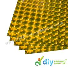 3D Wrapping Paper (30 Micron) (Gold) (46.5 x 67cm) (5 pcs/pkt)
