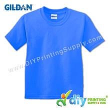 Gildan Cotton Tee (Round Neck) (Blue) (XXL) (180gsm)