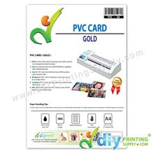 PVC Card (Gold) (50 sheets/pkt) (0.76mm)