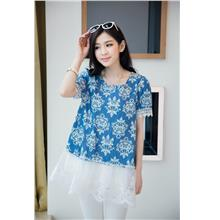 [PM-581-4679] Fashion Woman Elegant  Top Big Flower)