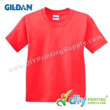 Gildan Cotton Tee (Round Neck) (Red) (XL) (180gsm)