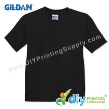 Gildan Cotton Tee (Round Neck) (Black) (XXL) (180gsm)