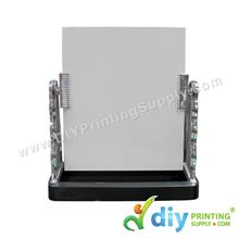 Glass Mirror with Stand (Silver) (17 x 14cm)