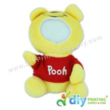 Button Badge Face Doll (Winnie The Pooh)