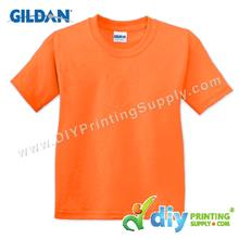 Gildan Cotton Tee (Round Neck) (Orange) (M) (180gsm)
