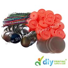 Button Badge Hair Pin with Mylar (32mm) (48 ? pcs/pkt)