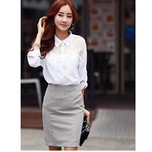[PM-600-4674] Fashion Woman Elegant Working Office Wear Top)