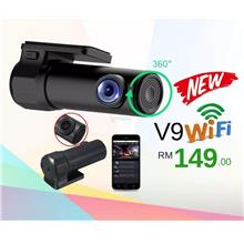 V9 1080P Mini Wifi Car Hidden Dash Cam Recorder Night Vision