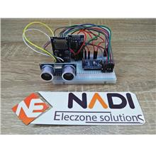 DIY Arduino Ultrasonic Water Level Sensor breadboard data logger