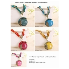 15061391914	bohemian necklace round pendant