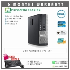 Dell Optiplex 790 SFF Intel i3-2nd Gen 4GB 250GB HDD Win 7 Desktop