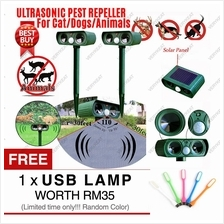 Solar Power PIR Sensor Ultrasonic Pest Animal Cat Dog Repeller Garden