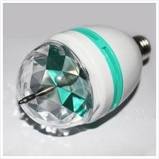 3W E27 RGB LED Colorful Rotating Light Bulb