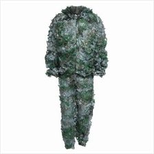 3D BIONIC LEAF CAMOUFLAGE JUNGLE HUNTING GHILLIE SUIT SET WOODLAND SNI