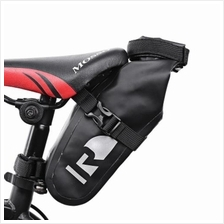 ROSWHEEL 111363 WATERPROOF BICYCLE SADDLE BAG CYCLING ACCESSORY (BLACK