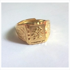 Lucky Gold Plated Copper Ring Men Gold Ring FA发)