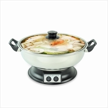HETCH Steamboat 2 Compartments 1600W 4.2L (FREE 2 x Soup Ladle & Skimm