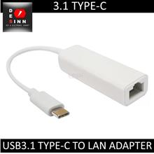 USB 3.1 Type-C to RJ45 Ethernet Adapter
