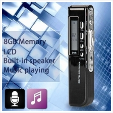 Professional 8GB MP3 Player LCD Screen Digital Audio Voice Recorder