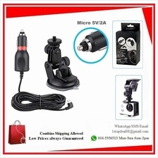 2in1 Car Charger Mount Suction Cup Bracket for Action Sport Camera
