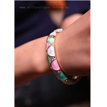 YN-6581	Style contrast color diamond bangle  格调撞&..