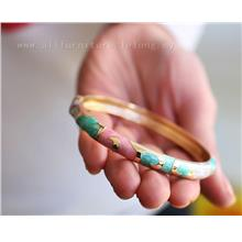 YN-6606	Tri-color package edge color bangle  三色包&..