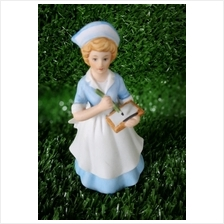 PORCELAIN HAND PAINTED NURSE DECORATION STATUE ANIMALS GIFT SS038
