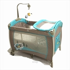 Bubbles Sleepy Cow Playpen with Mosquito Net - BUE1004)