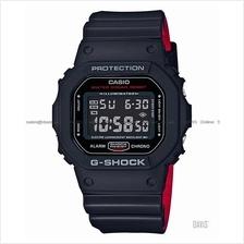 CASIO DW-5600HR-1 G-SHOCK digital Black & Red Series bi-color resin SC