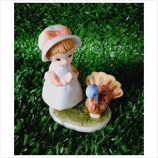 PORCELAIN HAND PAINTED DECORATION STATUE ANIMALS GIFT SS053