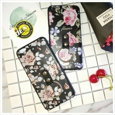 New Flower Soft Silicone Case with iRing for Vivo V5 Y55 FREE Cable