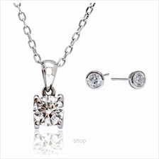 Kelvin Gems Premium Solitaire Pendant Necklace Gift Set)