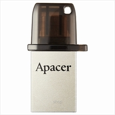 Apacer OTG USB 2.0 Black Dual Flash Drive - AH175)