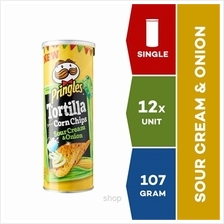 Pringles Tortilla Sour Cream  & Onion 107g x 12 units)