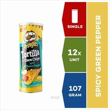 Pringles Tortilla Spicy Green Pepper 107g x 12 units)