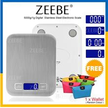 ZEEBE Stainless Steel Digital Kitchen Multifunction Food Weight Scale