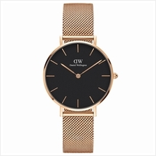Daniel Wellington Classic Petite Melrose 32mm Women Watch Rose Gold Black - 15)