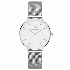 Daniel Wellington Classic Petite Sterling 32mm Women Watch Rose Silver White -)