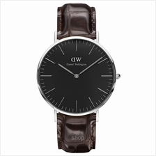 Daniel Wellington Classic Black York 40mm Men Watch Silver - 15-DW00100134)