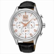 SEIKO . SPC087P1 . M . Chronograph . Date . LSB . Quartz . Silver