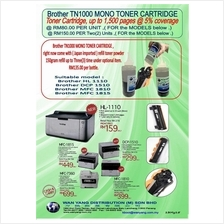 TN1000 BROTHER  MONO Toner Cartridges