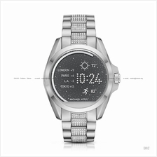 MICHAEL KORS ACCESS MKT5000 Bradshaw Smartwatch Pave Bracelet Silver