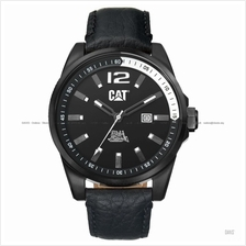 Caterpillar CAT Watches WT.161.34.131 OSLO Date Leather Strap Black