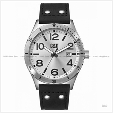 Caterpillar CAT Watches NI.241.34.231 CAMDEN 43 mm Date Leather Silver