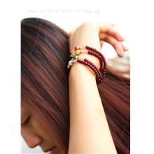 YN-6087	Colorful beads garnet bracelet   彩珠石&#270..