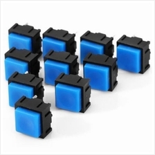10PCS PRACTICAL AC 12V 50MA 2PIN PUSH BUTTON SWITCH SET FOR DIY PROJEC