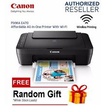 Canon PIXMA E470 All-In-One Printer With Wi-Fi For OfficeBusiness Home